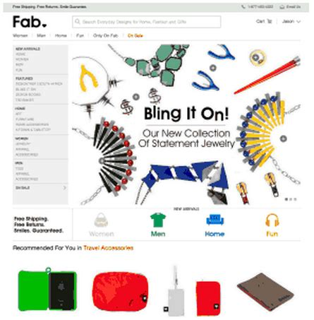 Fab Site Fashionjunkiecom by Fab Updates Site To Give Better Recommendations As It