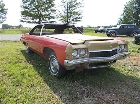 1973 chevy impala convertible for sale 1972 chevrolet impala for sale classiccars cc 997592