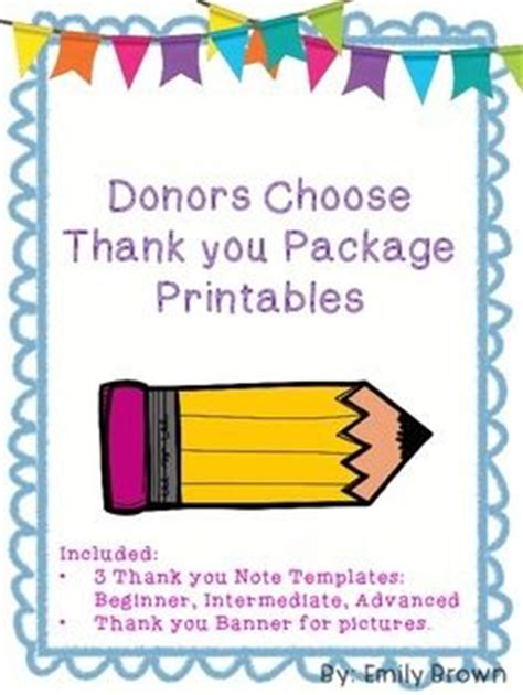 Thank You Letter For Donors Choose the world s catalog of ideas
