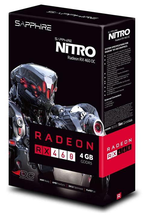 Vga Sapphire Rx 460 4gb sapphire nitro radeon rx 460 4gb d5 oc graphics card pci e dvi d hdmi displayport open box