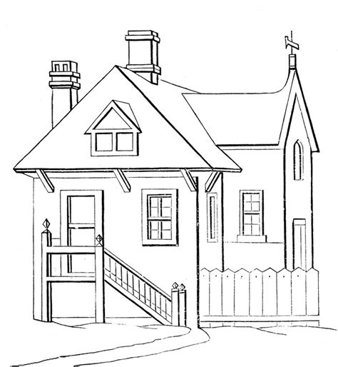 simple house coloring pages gt gt disney coloring pages