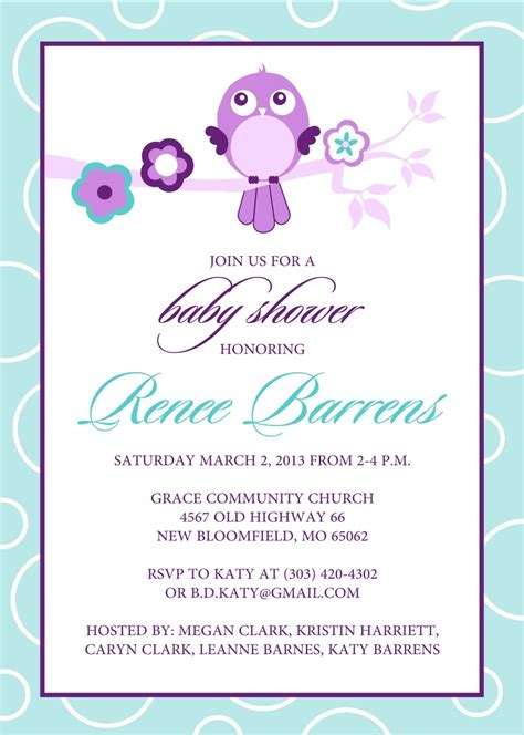 baby shower invitations for template templates