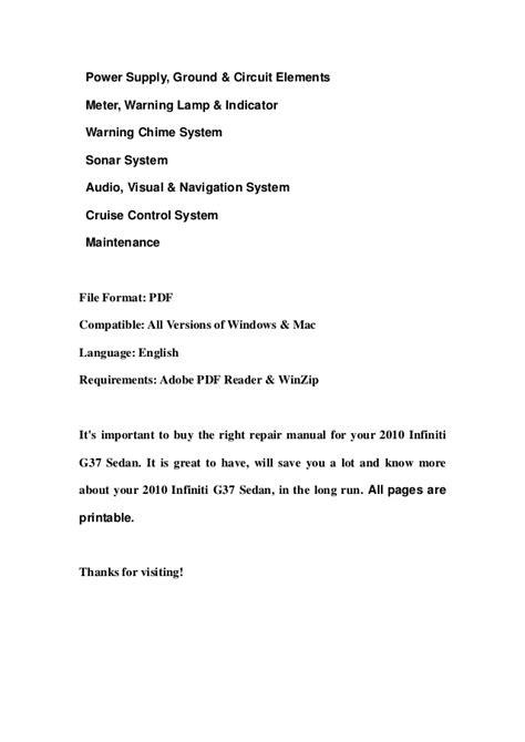 2010 infiniti g37 sedan service repair manual download