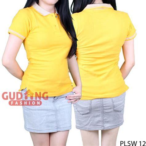 Kaos Wanita Kuning Polos kaos polos polo shirts pendek wanita cotton pique kuning