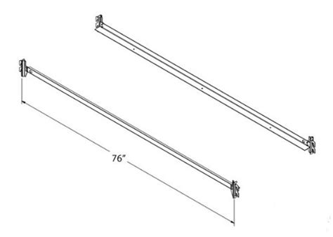 twin bed rails with hooks steel bed side rails with hook on claws 76 quot long for twin
