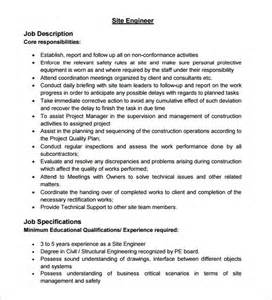 Responsibilities Of A Engineer by 10 Civil Engineer Description Templates Free Sle Exle Format Free