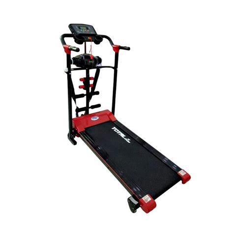 Treadmill Electric Tl 605 With Barbel jual total fitness tl 605 treadmill elektrik multi fungsi harga kualitas terjamin