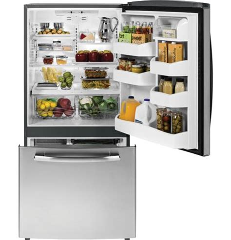 Bottom Drawer Refrigerator by Gde23gshss Ge Energy 23 2 Cu Ft Bottom Freezer