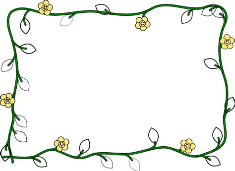 flower frame template free borders for word clipart best