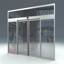 Sliding Glass Doors by Free Door Sliding Automatic 3d Model