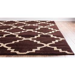 well woven royal court 3 piece brown area rug set