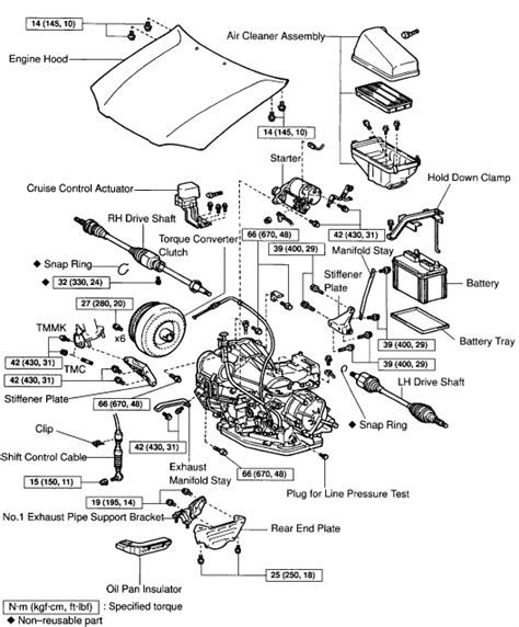 car engine manuals 2012 toyota avalon parking system 1999 toyota camry 2 2 l 4 cly instructions on removal and reinstall of transmission please