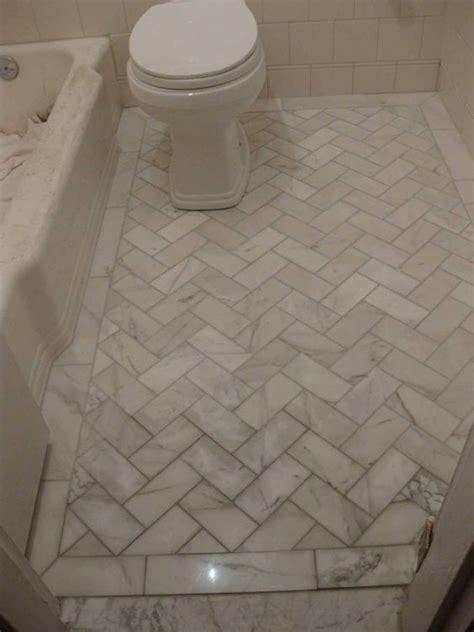 floor bathroom tile white   white marble and diagonal