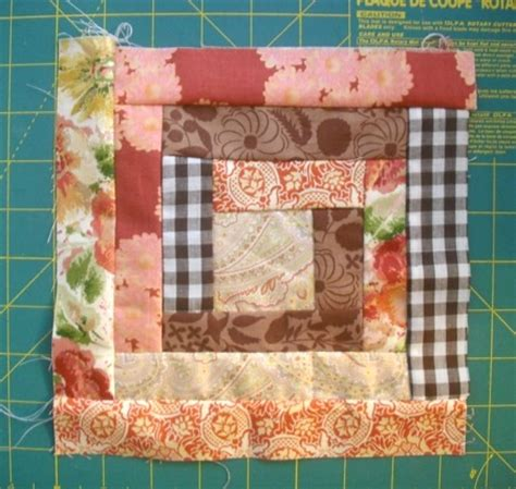 Log Cabin Quilt Block Tutorial by Sewing School Your Source For All Things Sewing