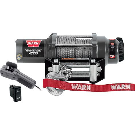 warn vantage 4000 series 12 volt dc powered electric atv