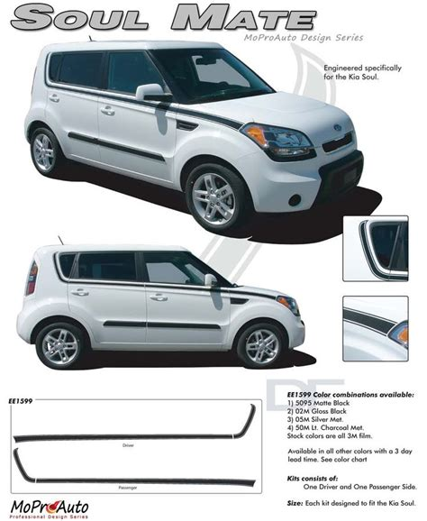 Decals For Kia Soul Soul Mate Vinyl Graphics Kit Engineered To Fit The 2010