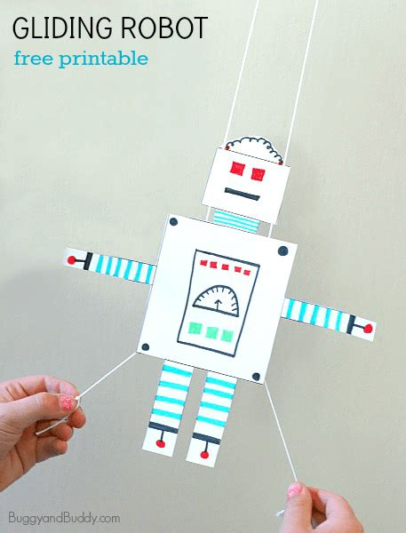 Stem Activity For Kids Free Printable Gliding Robot Buggy And Buddy Robot Craft Template