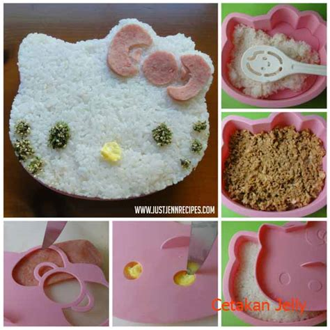 cara membuat bento nasi kuning hello kitty cetakan roti nasi bento hello kitty bread cutter cetakan