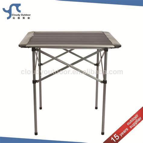 small metal table roll up top cing aluminum small metal folding table