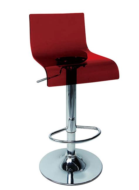modern bar stools red or clear plastic contemporary bar stools metal base