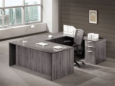 gray  shape desk direct office solutions
