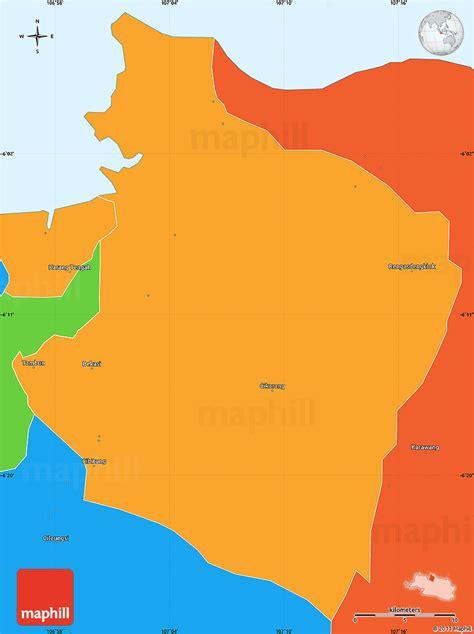 political simple map  kab bekasi