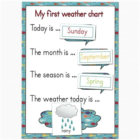 printable weather graphs for kindergarten fantail digital art my first weather chart free printable
