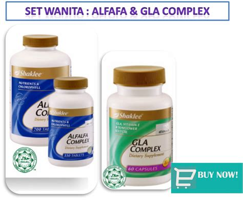 Vitamin B Kompleks Cair set kombinasi alfalfa complex shaklee cara hidup sihat