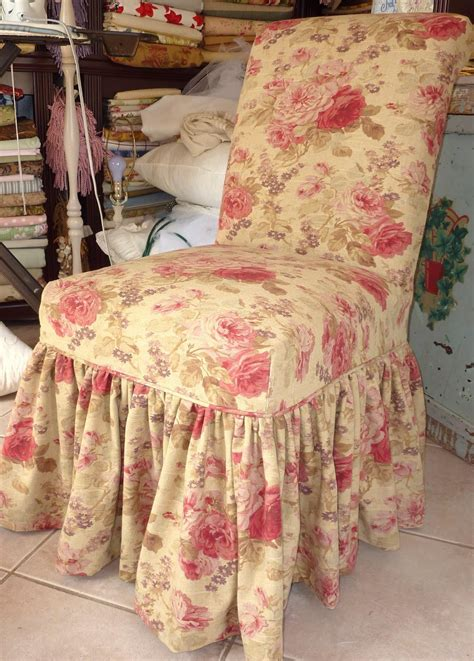 ruffled dining chair slipcovers shabby chic slipcovers for loveseats cottage by design