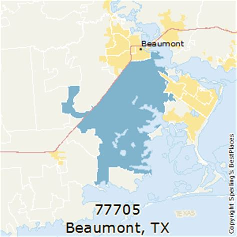 beaumont texas zip code map best places to live in beaumont zip 77705 texas