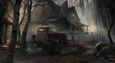 Creepy Cabin In The Woods by Creepy Cabin By Spex84 On Deviantart