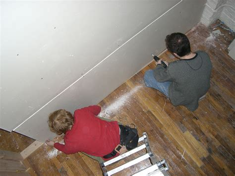 how to hang sheetrock on ceiling by yourself how to install ceiling drywall 14 steps with pictures