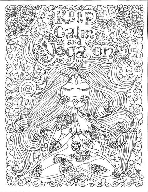 yoga coloring pages for adults coloriage anti stress pour adultes 224 imprimer