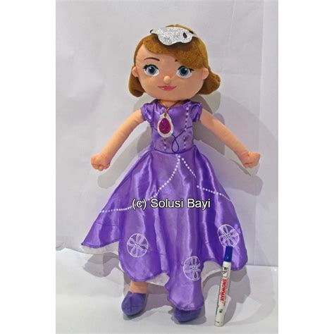Bantal Boneka Princess boneka plush doll princess sofia cinderella snow white
