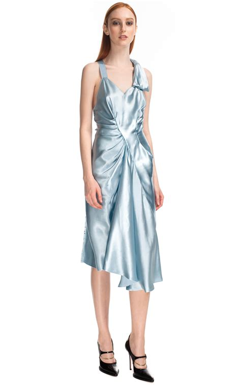 light blue satin dress light blue satin dress by ricci moda operandi
