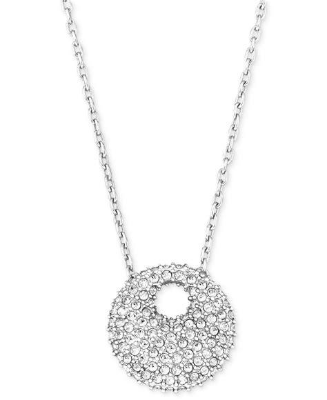 Necklace Pegasus Swarovski Silver Rhodium swarovski rhodium plated pave pendant necklace in metallic lyst
