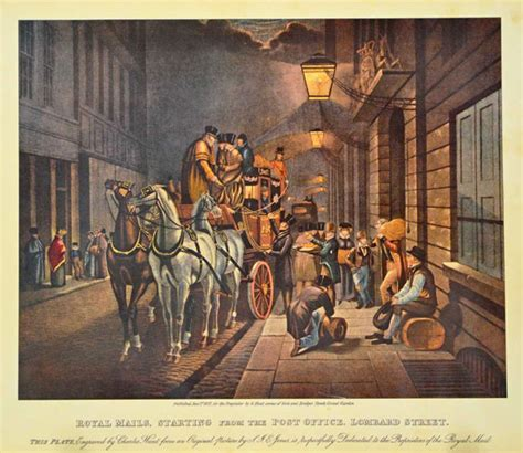 antique print club start of the royal mail from lombard