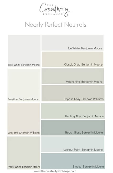 colors that work with gray nearly perfect neutral paint colors