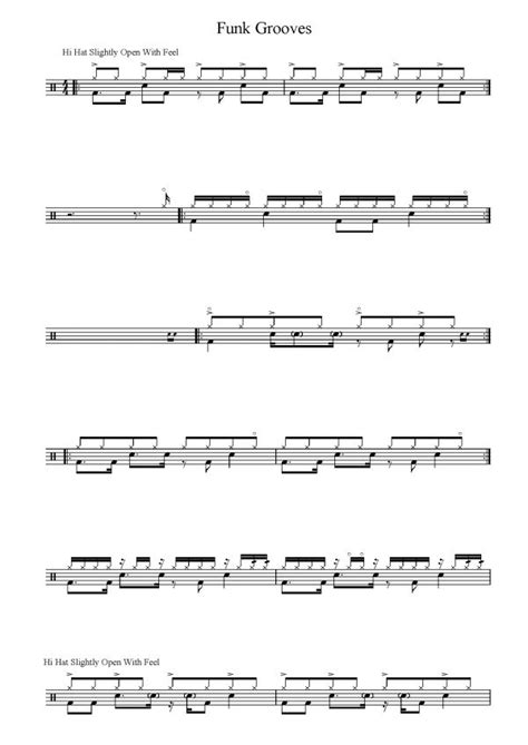 tutorial drum funk 17 best images about drum lessons on pinterest sheet