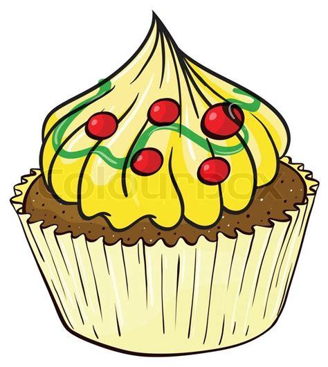 clipart kuchen kostenlos s 252 ss gelb ein vektorgrafik colourbox