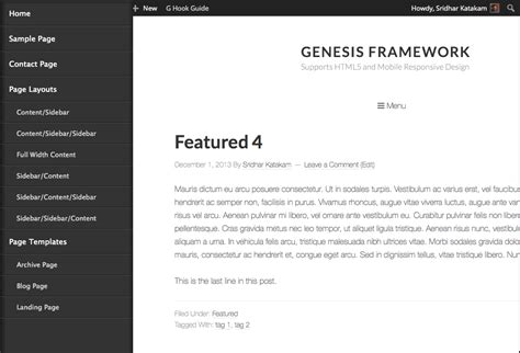 html layout side menu adding a responsive side menu in genesis using sidr