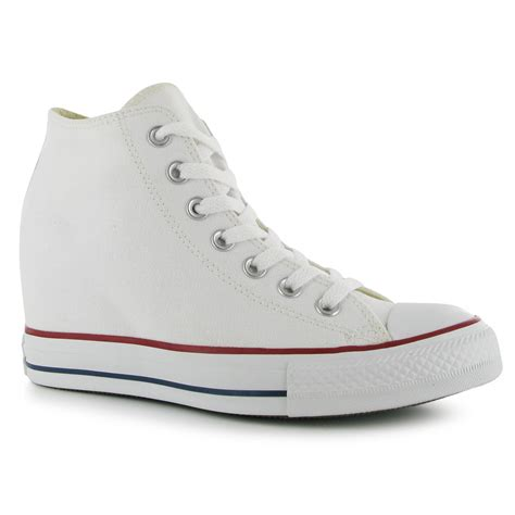 platform sport shoes converse womens mid platform trainers lace up casual sport