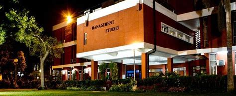 Fms Delhi Part Time Mba Fees by Of Delhi Faculty Of Management Studies Fms