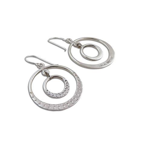 Sterling Silver Hoop Drop Earrings hoops 925 sterling silver hoop drop earrings ebay