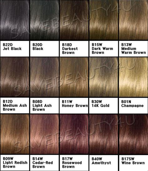 clairol hair color chart clairol beautiful collection semi permanent color hair