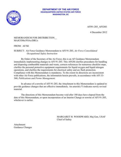 by order of the air force occupational safety and air force consolidated occupational safety instruction