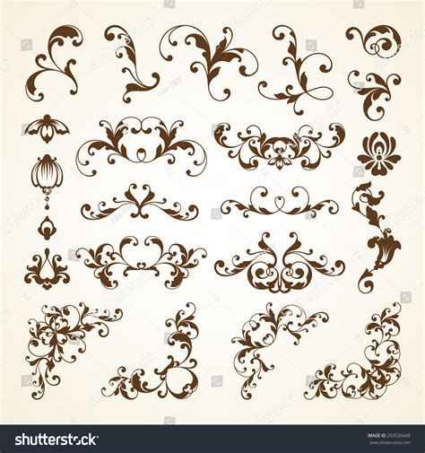 vector wedding design elements and calligraphic page decoration vector set of vintage decorative ornamental page