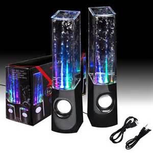 2 x water led jet light speakers