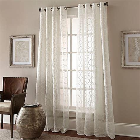 manhattan curtains manhattan sheer grommet top window curtain panel