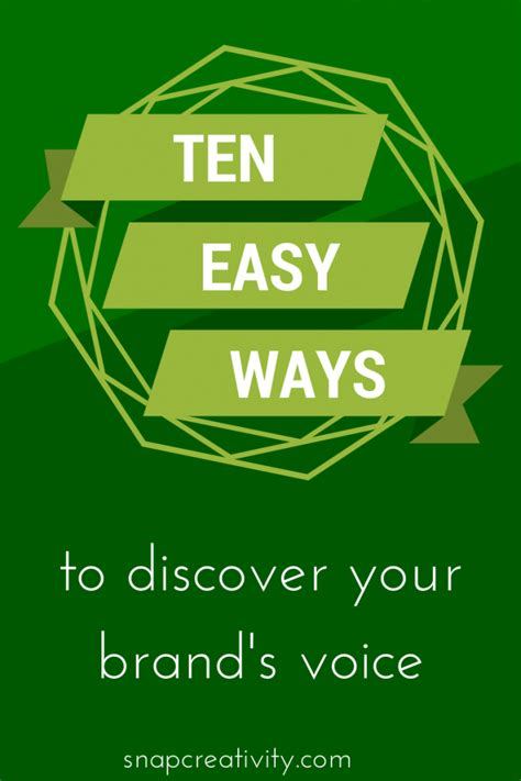 10 easy ways to discover your brand s voice tauni co